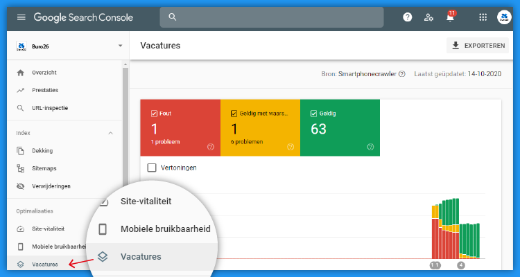 Google Vacatures Search Console