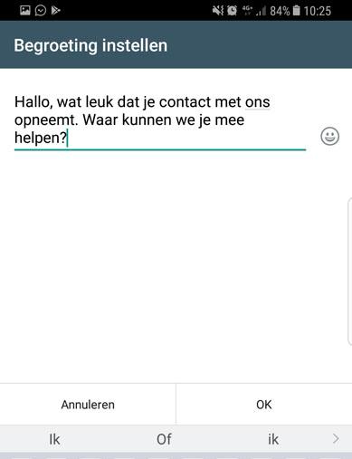 whats app business begroeting kopie